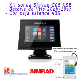 Kit sonda Simrad G05  + bateria litio con caja estanca ABS