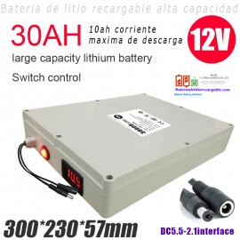 Bateria recargable ion-Litio LifePO4 12v/30ah/10ah