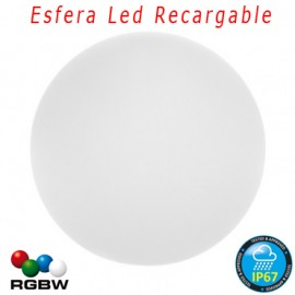 Esfera Luz Led Recargable RGBW 20cm