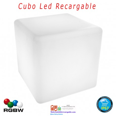 Cubo Led Recargable RGBW 40cm