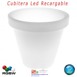 Macetero Recargable con luz Led RGB+W 35cm