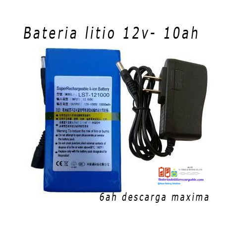 Bateria Litio Recargable 12v /10ah/ 6ah