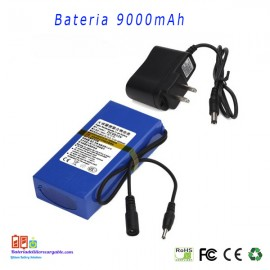 Bateria recargable litio 12V/ 9A / 108wh