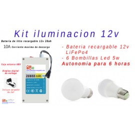 Kit iluminacion Led 12v