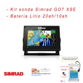 Kit sonda Simrad G07  + bateria litio con caja estanca ABS