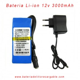 Bateria recargable litio 12V / 3000mAh