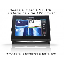 Kit sonda Simrad GO9 + bateria litio con caja estanca ABS