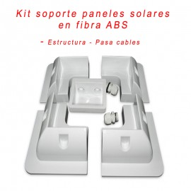 Kit soporte + pasacables ABS