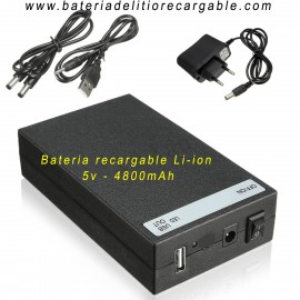 Bateria recargable litio 5v 4800mAh