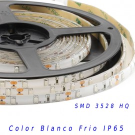 Tira Led HQ SMD 3528 monocolor 12v 60 led/m IP65 Blanco frio