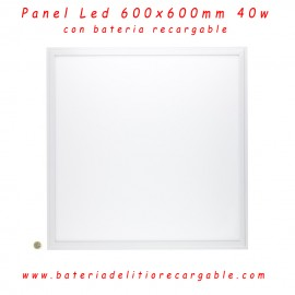 Panel Led Slim Recargable 60x60