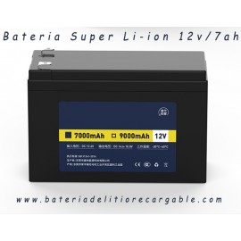 Pack bateria Super Li-ion recargable 12v