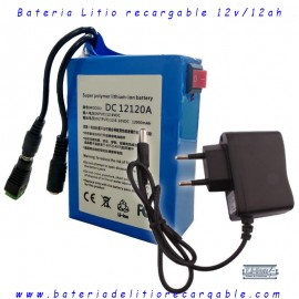 Bateria recargable litio 12V/ 12A/144wh