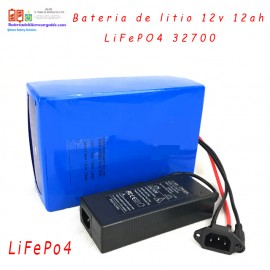 Bateria litio recargable LiFePO4 12v 12ah