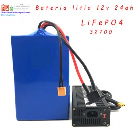 Bateria litio recargable LiFePO4 12v 24ah