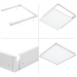 Marco superficie panel Led 30x30