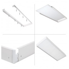 Marco superficie panel Led 120x30