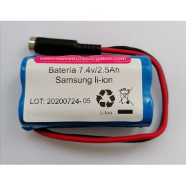 Pack bateria Litio 7,4v 2600mAh
