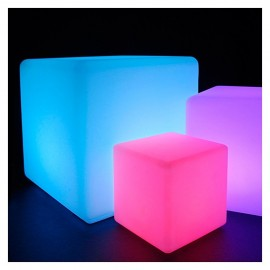 Cubo Led Recargable RGBW 30cm