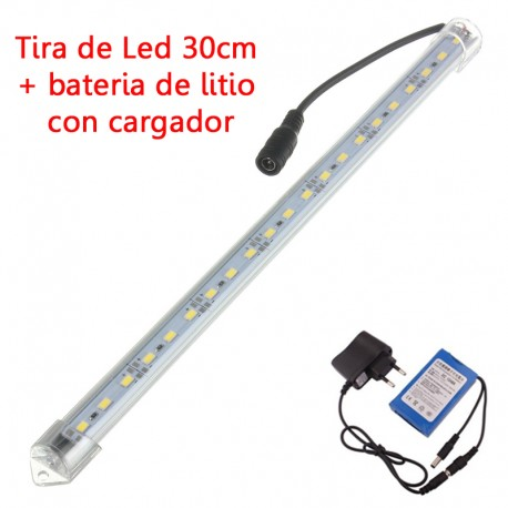 Kit Tira de Led 30 cm + Bateria Litio