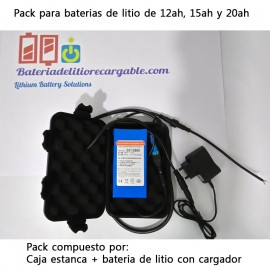 Pack bateria + caja estanca XL