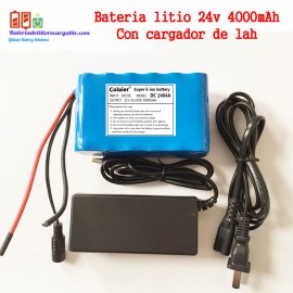 Bateria litio recargable 24v 4000mAh