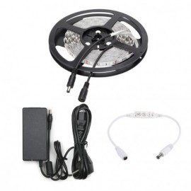 Kit Tira Led 3528 Blanco Calido + transformador + controlador