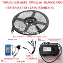 Kit Tira de Led + Bateria litio + Caja estanca XL + Cable conexion