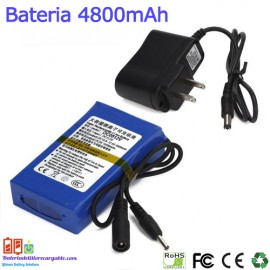 Bateria recargable litio 12V/ 4.8A / 57.60wh