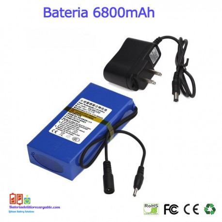 Bateria recargable litio 12V / 6.8A