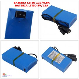 Bateria litio recargable 12v 6.8A/5v 13A